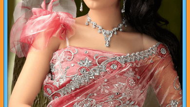 Salmon Pink Pure Net Wedding Wear