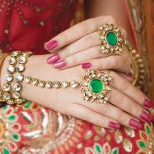 Bride's attractive hands