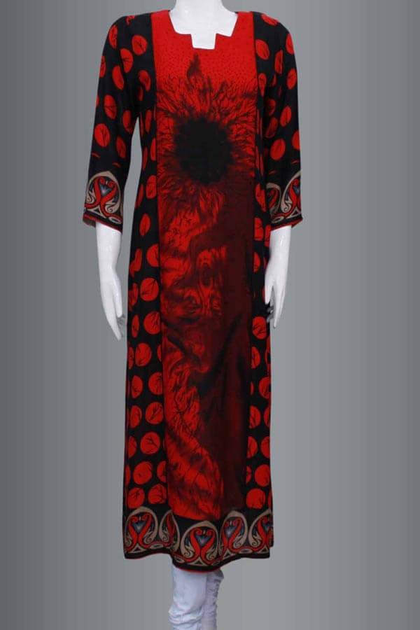 Latest-Fashion of-Long Women Kurta Designs-2015-Girls-Kurti