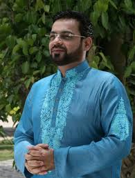 Aamir Liaquat Hussain New lawn Summer Collection