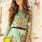 tips for best  send flowers arrangements in fashion Tips For Best  Send Flowers Arrangements in Fashion Female College Student Wearing Floral Print Dress Fall Style Fashion 276x400 150x150