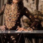 new pakistani embroidery dresses designs for women New Pakistani Embroidery Dresses Designs For Women black banarsi jamawar embroidered neck 150x150