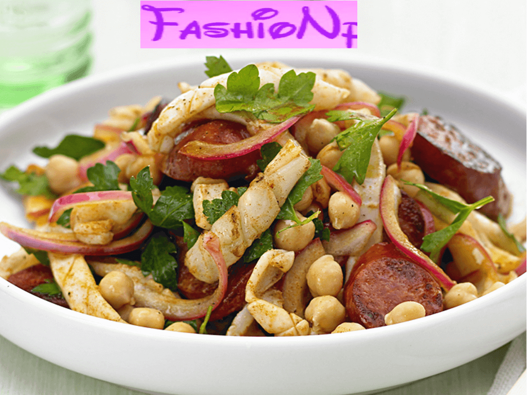 Warm chorizo & chickpea salad easy list healthy food recipes to eat Easy List Healthy Food Recipes To Eat safsdgsdvgsd