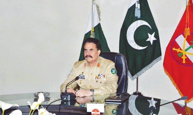 Army Chief General Raheel Sharif Headquarters Meeting in Karachi
