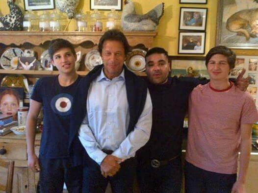 Imran Khan and Son take Part Election
