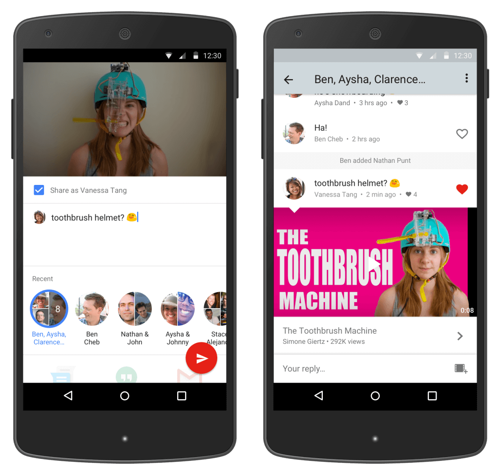 People are Using Youtube introduces in App Messenger