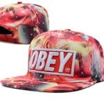 obey black hat for using summer season Obey Black Hat For Using Summer Season Obey Red Galaxy Print Plastic Snapback CAP Adjustable Hats 150x150