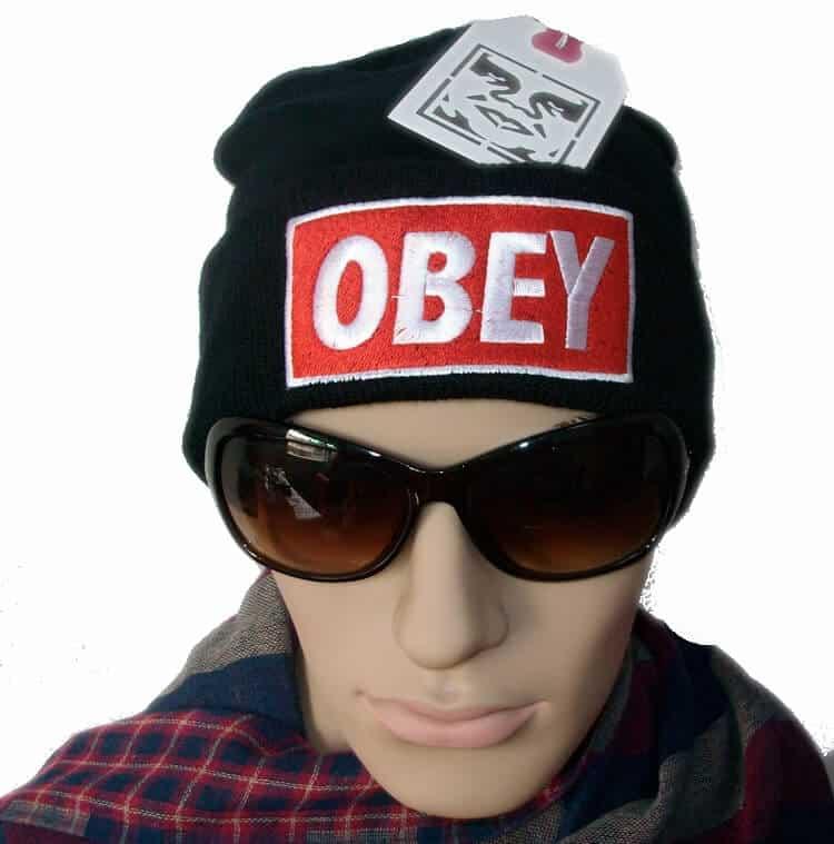 Obey Black Hat For Using Summer Season Obey Black Hat For Using Summer Season Obey Black Hat For Using Summer Season Obey Standard Issue Beanie Cuff Winter Knit Cap Hat Black