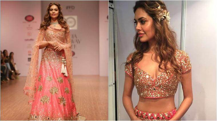 Esha Gupta shimmers in pink as she walks the Ramp