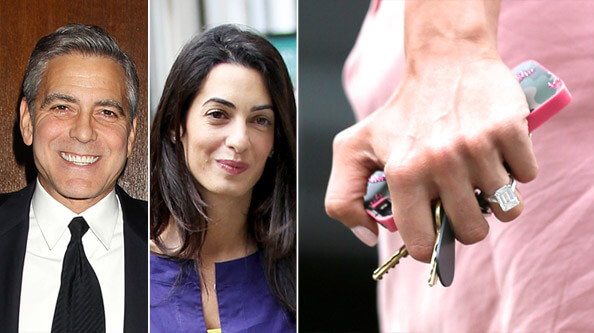 George Clooney Engagement Ring