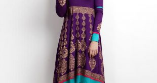 women's kurta shalwar kameez online in pakistan Women's Kurta Shalwar Kameez Online in Pakistan women purple gold printed anarkali kurta 310x165