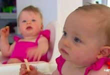 The twins syrupy and Olivia was conceived 10 months prior