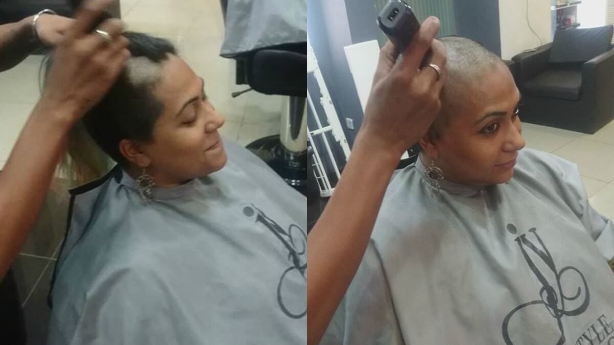 Props to Nida for doing something so selfless woman shaved her head donate her hair to cancer patients Woman Shaved her Head Donate her Hair to Cancer Patients Props to Nida for doing something so selfless